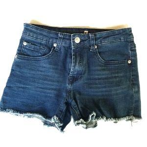 7FAM cut off raw edge wash out shorts sz 14